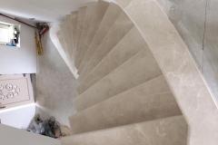 Burdur Beige Curved Marble Stairs