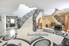 Curved marble stairs