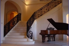 Carrara-marble-staircase-complete-with-two-flared-grand-steps-and-enclosed-stringer