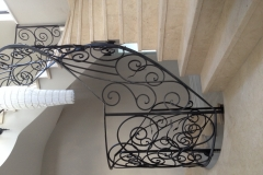 Turned-Cream-Marfil-marble-stairs-Carlow