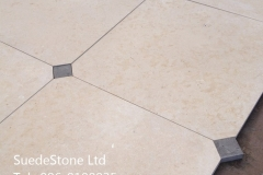 cream grey inset limestoneA